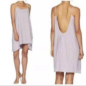 BCBGMAXAZRIA Lilac Mauve Low Back Pleated Dress